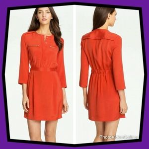 Theory Brunella Dress-Papaya
